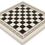 White & Black Roman Chess Board – 1.75″ Squares