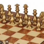 Classic French Staunton Brass Chess Set Deluxe Package