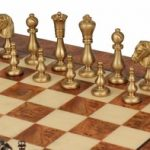 Staunton Brass Chess Set Deluxe Package