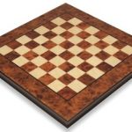 Elm Root & Maple Thick Chess Board – 1.5″ Squares