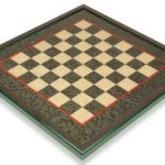 Green & Erable Framed Chess Board – 1.5″ Squares