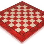 Red & Erable Chess Board, 2″ Squares