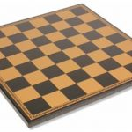 Italfama Black & Gold Leatherette Chess Board – 1.75″ Squares