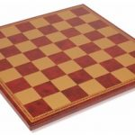 Italfama Red & Gold Leatherette Chess Board – 1.75″ Squares