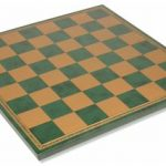 Italfama Green & Gold Leatherette Chess Board – 1.75″ Squares