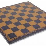 Italfama Blue & Gold Leatherette Chess Board – 2″ Squares
