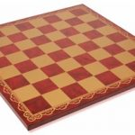 Italfama Red & Gold Leatherette Chess Board – 2″ Squares