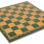 Italfama Green & Gold Leatherette Chess Board – 2″ Squares