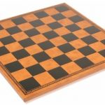 Italfama Black & Brown Leatherette Chess Board – 1.75″ Squares