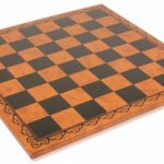 Italfama Black & Brown Leatherette Chess Board – 2″ Squares