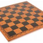 Italfama Black & Brown Leatherette Chess Board – 2″ Squares