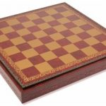 Italfama Red & Gold Leatherette Chess case – 1.75″ Squares