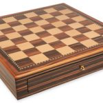 Macassar Ebony & Maple Chess Case – 2″ Squares