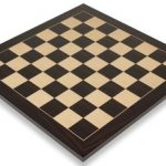 Macassar Ebony & Maple Standard Chess Board – 2.25″ Squares