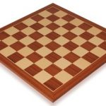 Mahogany & Maple Classic Chess Board – 2″ Squares