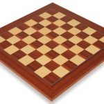 Mahogany & Maple Deluxe Chess Board – 2″ Squares