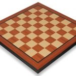 Mahogany & Maple Molded Edge Chess Board – 2″ Squares