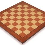 Mahogany & Maple Standard Chess Board – 1.75″ Squares