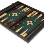 Manopoulos Black & Green Backgammon Set – Medium