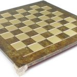 Brass & Brown Chess Board – 1.375″ Squares