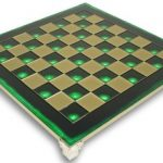 Brass & Green Chess Board – 1.375″ Squares