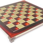 Brass & Red Chess Board – 1.375″ Squares