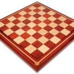 Mission Craft African Padauk (Blood Rosewood) & Maple Solid Wood Chess Board – 2.25″ Squares
