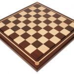 Mission Craft South American Walnut & Maple Solid Wood Chess Board – 2.5″ Squares