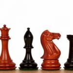 New Exclusive Staunton Chess Set in Ebony & African Padauk – 4″ King
