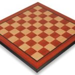 Padauk & Maple Molded Edge Chess Board – 2.375″ Squares