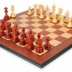 Patton Staunton Deluxe Chess Set Package in African Padauk & Boxwood – 4.25″ King