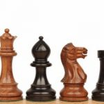 Parker Staunton Chess Set in Ebonized Boxwood & Golden Rosewood – 3.75″ King