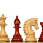 Patton Staunton Chess Set in African Padauk & Boxwood – 4.25″ King