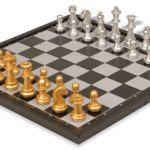 The Chess Store Gold & Silver Folding Magnetic Travel Chess Set – 9.75″
