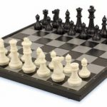 Chess & Checkers Folding Magnetic Travel Set – 14″