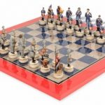 Large Civil War Theme Chess Set Deluxe Package