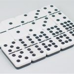 Double 9 Tournament Two Tone Black Dot Spinner Domino Set