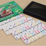 Double 6 Tournament Color Dot Domino Set