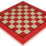 Tulip Red & Erable High Gloss Deluxe Chess Board – 2.375″ Squares