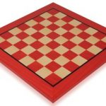 Tulip Red & Maple High Gloss Deluxe Chess Board – 1.75″ Squares
