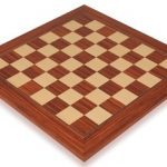 Rosewood & Maple Deluxe Chess Board – 2″ Squares