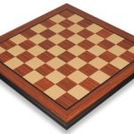 Rosewood & Maple Molded Edge Chess Board – 2.125″ Squares