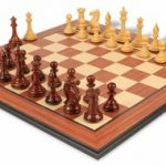 New Exclusive Staunton Chess Set Rosewood & Boxwood with Rosewood Molded Chess Board – 3″ King