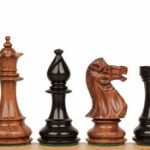 Royal Staunton Chess Set in Ebonized Boxwood & Golden Rosewood – 4″ King