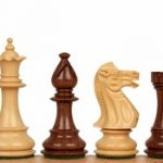 Royal Staunton Chess Set in Golden Rosewood & Boxwood – 4″ King