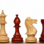 Royal Staunton Chess Set in African Padauk & Boxwood – 4″ King