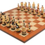 Battle of Waterloo Hand Decorated Theme Chess Set Standard Package