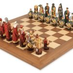 Crusades Hand Decorated Theme Chess Set Package