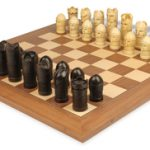 Masked Hand Decorated Chess Set by Studio Anne Carlton Deluxe Package