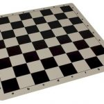 The Chess Store Silicone Rollup Chess Board Black – 2.25″ Squares